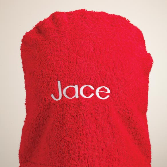 Personalized Elmo Hooded Kid's Towel - View 2