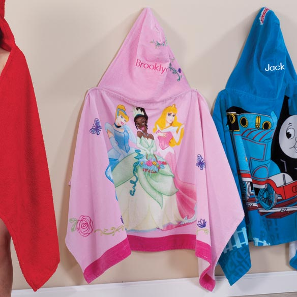 Personalized Princess Hooded Kid's Towel - View 2