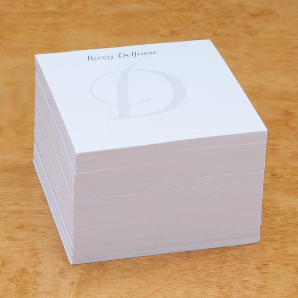 Personalized Note Sheets with Cube - View 2