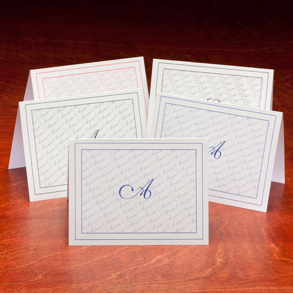 Personalized Monogrammed Note Cards - Set Of 25 - View 2