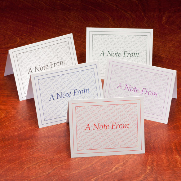 "Personalized ""A Note From"" Cards - Set Of 25 - View 2"