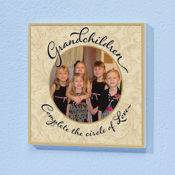 8x8 Grandchildren Circle of Love Photo Wood Wall Plaque - View 2