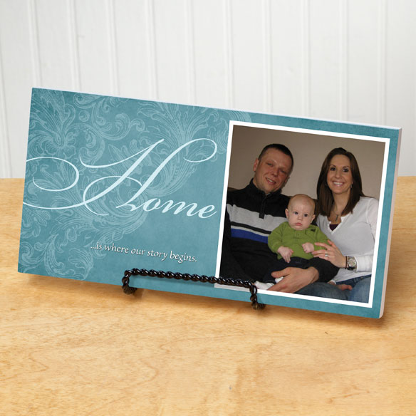 4x8 Home Sentiments Photo Wood Wall Plaque - View 3