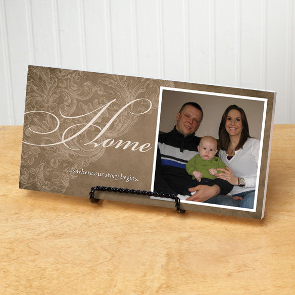 4x8 Home Sentiments Photo Wood Wall Plaque - View 4