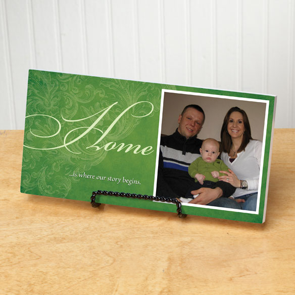 4x8 Home Sentiments Photo Wood Wall Plaque - View 5