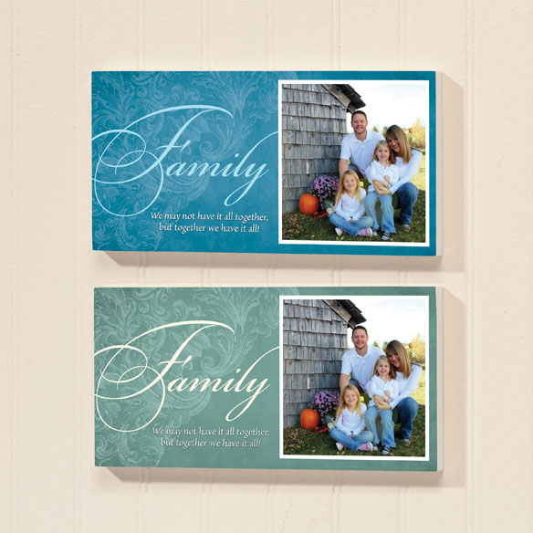4x8 Family Sentiments Photo Wood Wall Plaque - View 2