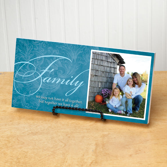 4x8 Family Sentiments Photo Wood Wall Plaque - View 3