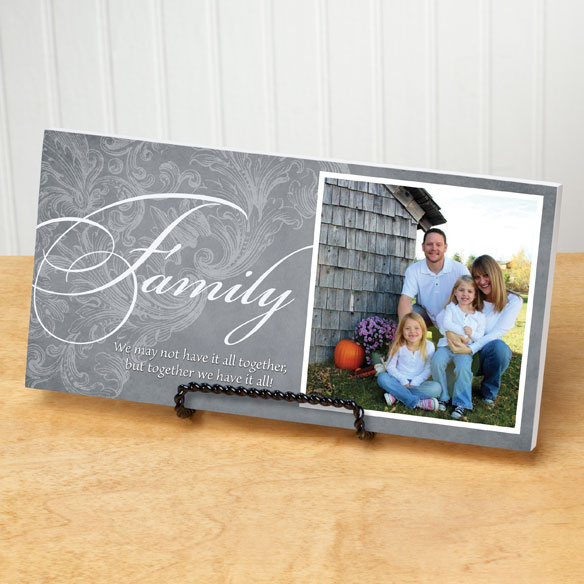 4x8 Family Sentiments Photo Wood Wall Plaque - View 4
