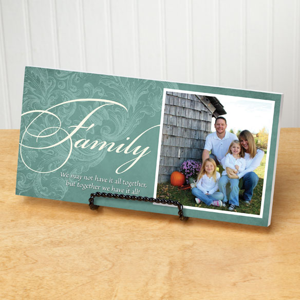 4x8 Family Sentiments Photo Wood Wall Plaque - View 5
