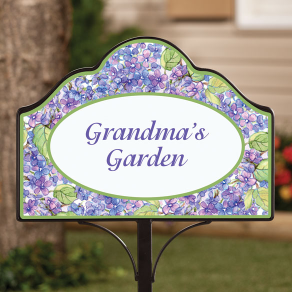 Personalized Magnetic Lilac Yard Sign - View 2