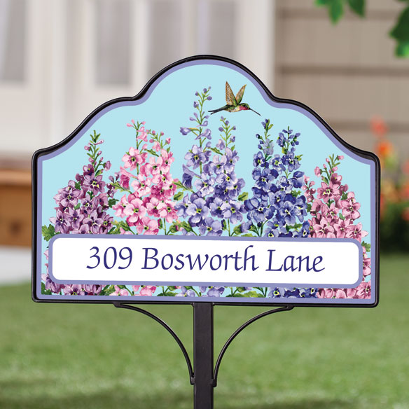 Personalized Magnetic Floral Yard Sign - View 2