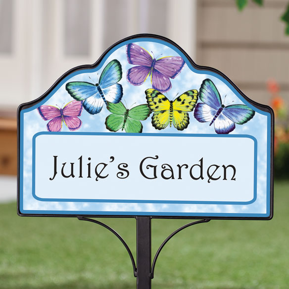 Personalized Magnetic Butterfly Yard Sign - View 2