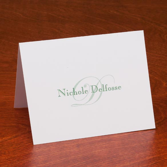 Personalized Script Note Cards - Set Of 25 - View 3