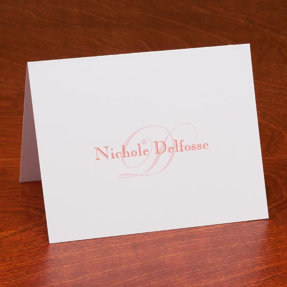 Personalized Script Note Cards - Set Of 25 - View 5