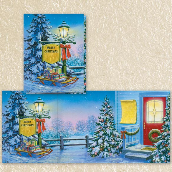 Doug Knudson Christmas Cards Collection Set of 60 - View 4