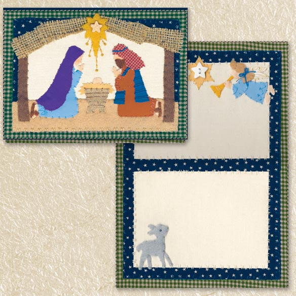 Nativity Christmas Cards Set of 80 - View 2