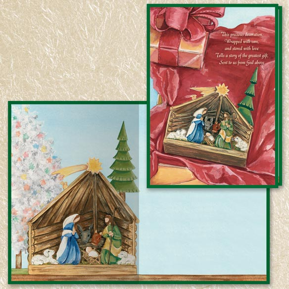 Nativity Christmas Cards Set of 80 - View 3