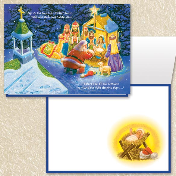 Nativity Christmas Cards Set of 80 - View 4