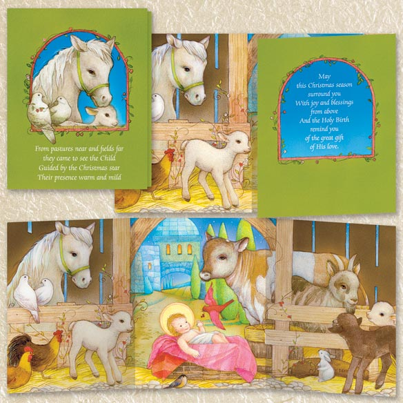 Nativity Christmas Cards Set of 80 - View 5