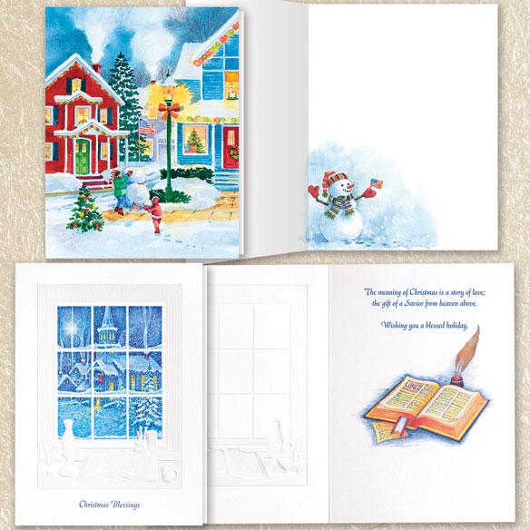 Assorted Christmas Cards Set of 100 - View 3