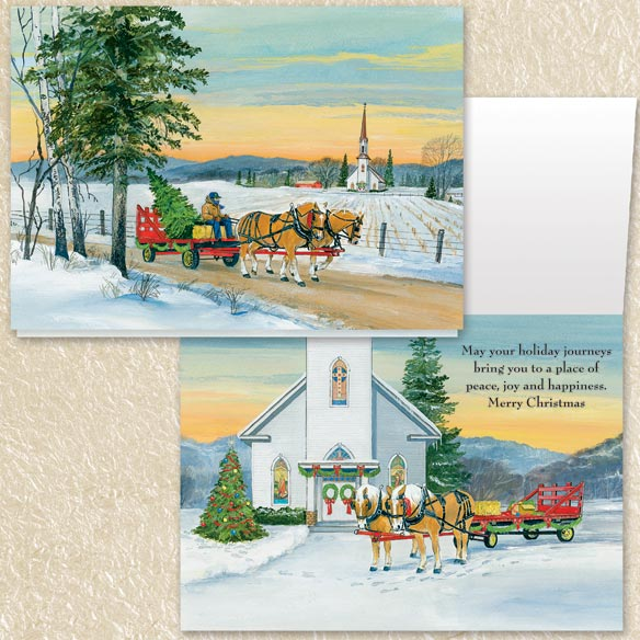 Christmas Nostalgia Christmas Cards Set of 80 - View 4