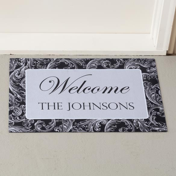 Personalized Scroll Doormat - View 2