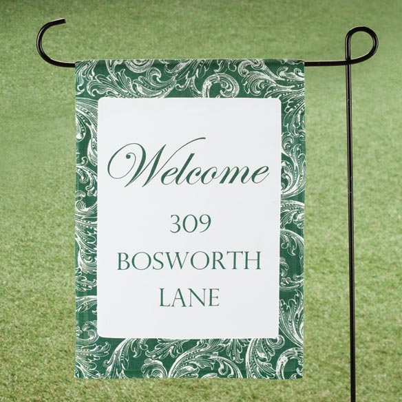 Personalized Scroll Garden Flag - View 5