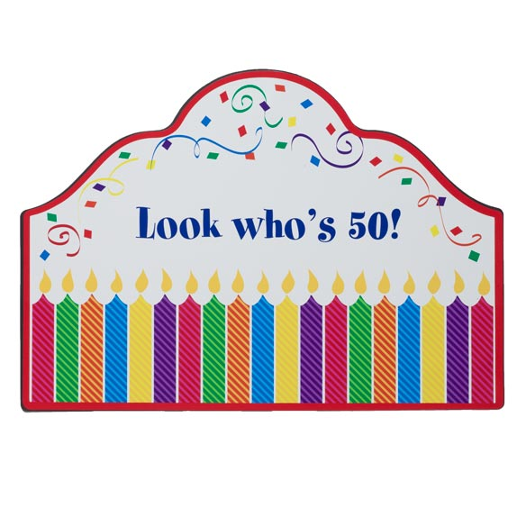 Personalized Birthday Magnetic Sign - View 2