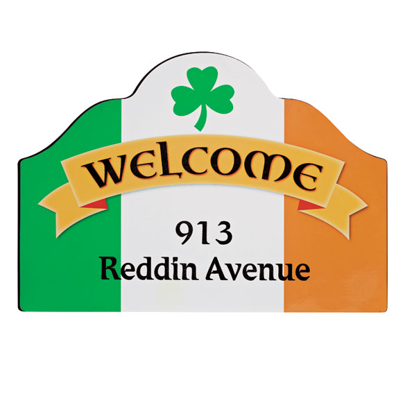 Personalized Irish Pride Magnetic Sign - View 3