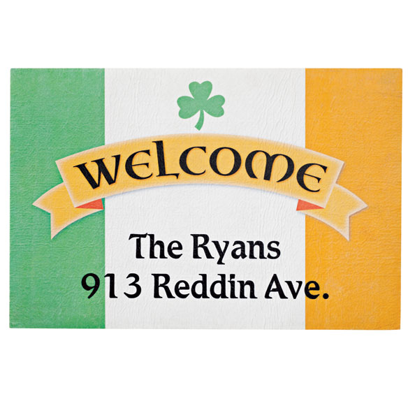 Personalized Irish Pride Doormat - View 1