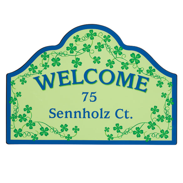 Personalized Shamrocks Magnetic Sign - View 3