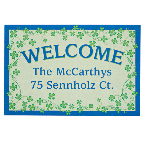 Personalized Shamrocks Doormat - View 2