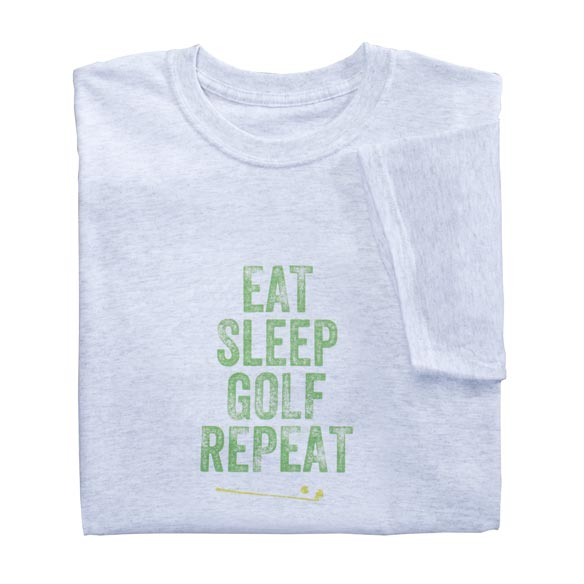 Eat Sleep Golf Repeat T-Shirt - View 2