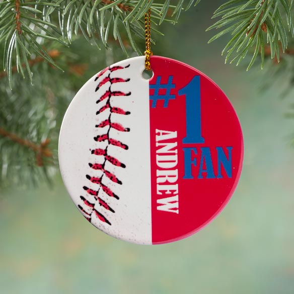 Personalized Sports Porcelain Ornament - View 2