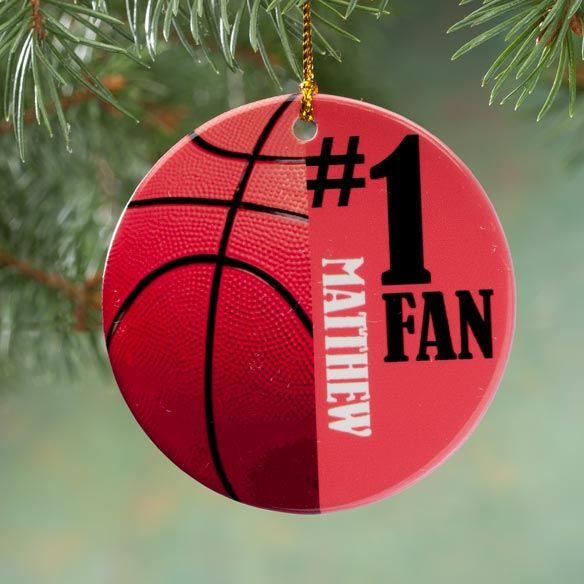 Personalized Sports Porcelain Ornament - View 3