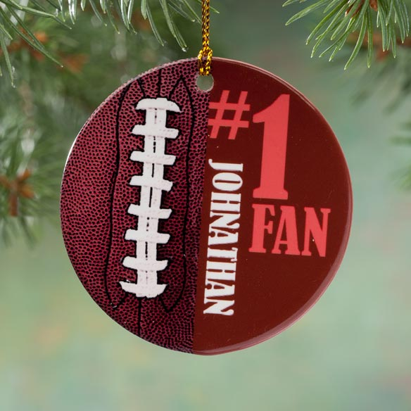 Personalized Sports Porcelain Ornament - View 4