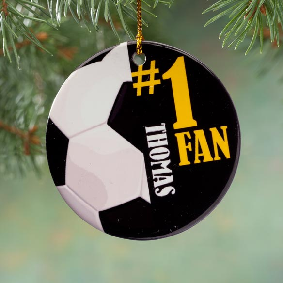 Personalized Sports Porcelain Ornament - View 5
