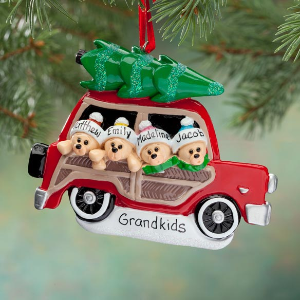 Personalized Woody Wagon Ornament - View 3