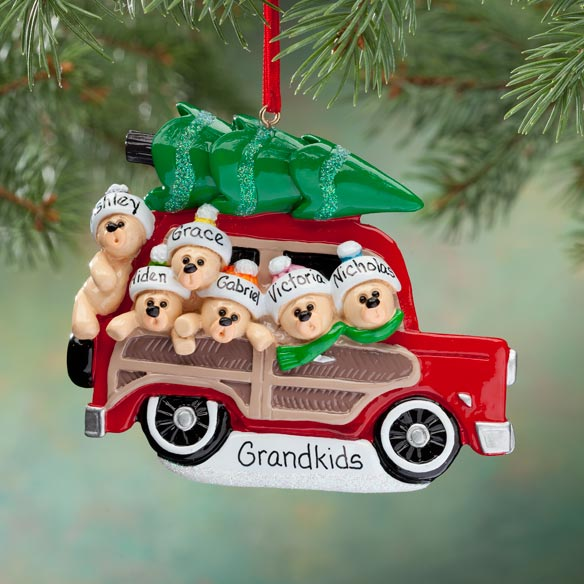 Personalized Woody Wagon Ornament - View 4