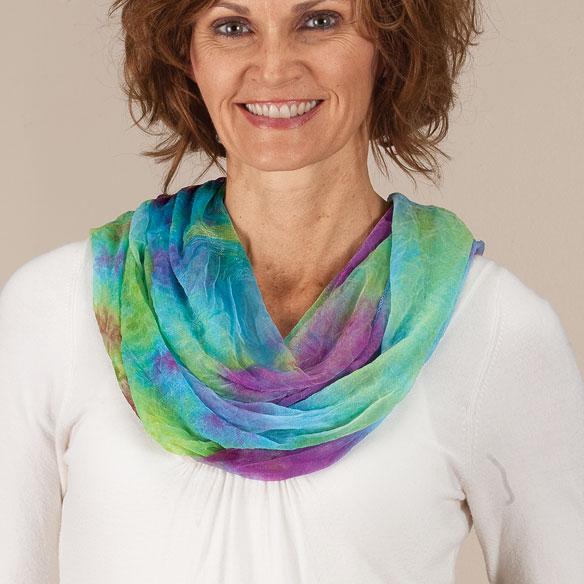 Designer Tie Dye Scarf - View 2