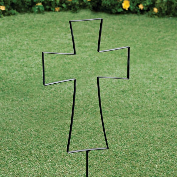 Easter Cross Yard Stake - View 2