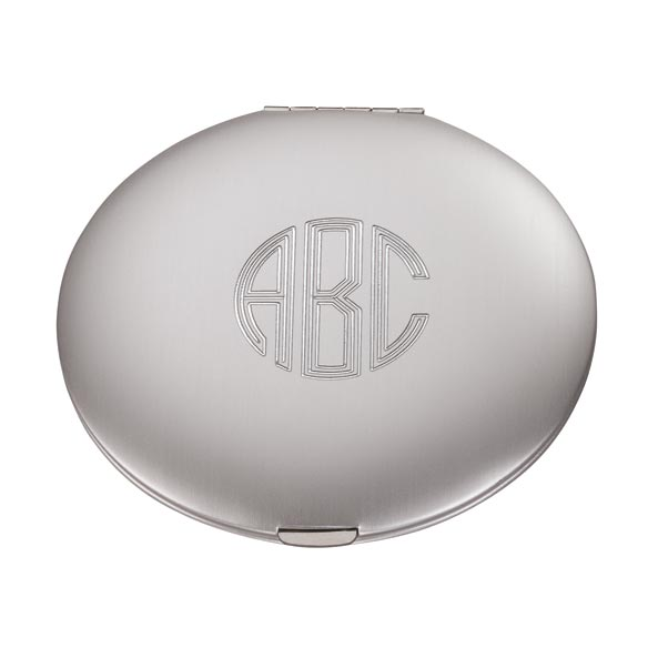 Personalized Silver Compact Mirror - View 2