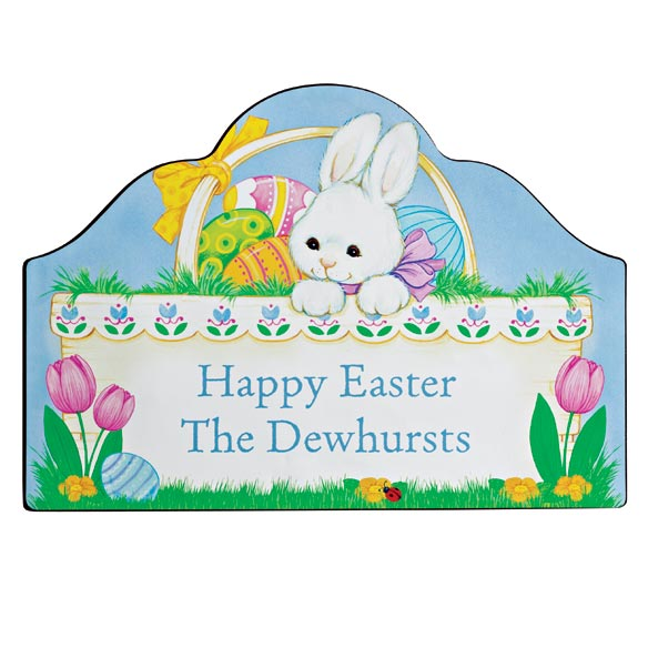 Personalized Magnetic Easter Bunny Yard Sign - View 2