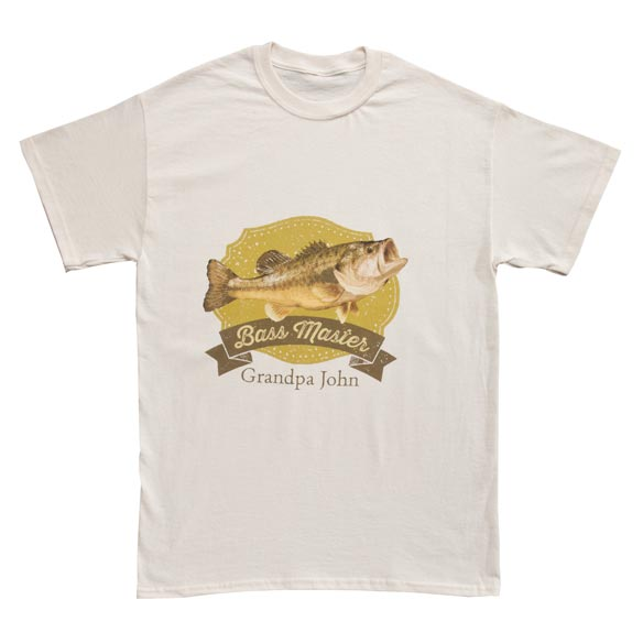 Personalized Bass Master T-Shirt - View 2