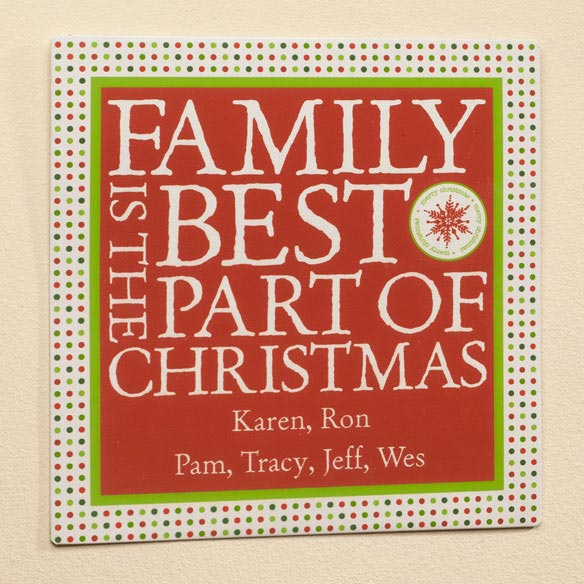 Personalized 12x12 Best Part of Christmas Metal Wall Plaque - View 2