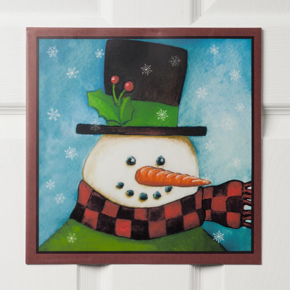 12x12 Snowman Metal Wall Plaque - View 2