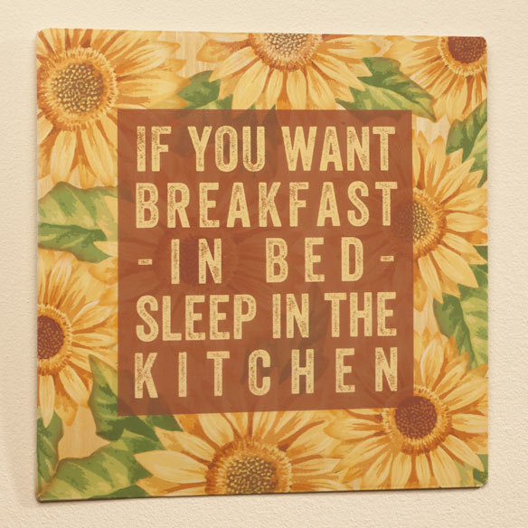 12 x 12 Breakfast in Bed Metal Wall Plaque - View 2
