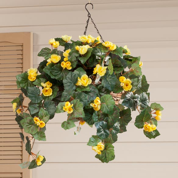 Silk Begonia Hanging Bush - View 4