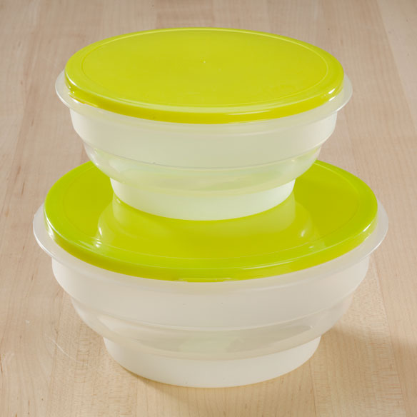 Round Collapsible Food Containers - View 3