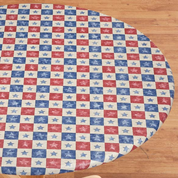 Americana Stars Elasticized Table Cover - View 2